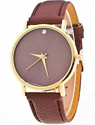 Women's Simple Case Leather Band Analog Quartz Watch Wrist Watch