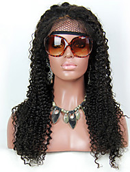 Brazilian Kinky Straight Hair Glueless Full Lace Wigs & Lace Front Wig #1, #1B , #2, #4 Human Hair Wigs For Black Women