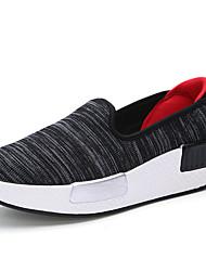 Calçados Femininos-Tênis-Conforto-Rasteiro-Preto / Azul / Branco / Cinza / Laranja / Coral-Sintético-Ar-Livre / Casual / Para Esporte