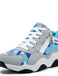 женская обувь синтетические клинья комфорта моды кроссовки случайные серый / фуксия