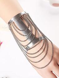 SIlver Taeels Chain Cuff Bracelets