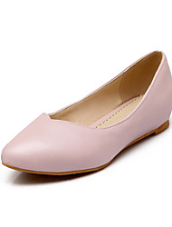 Women's Shoes PU Summer/Fall Comfort/Pointed Toe Flats Outdoor/Office & Career/Casual Flat Heel Blue / Pink/White