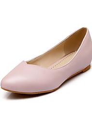 Damen-Flache Schuhe-Outddor / Büro / Lässig-PU-Flacher Absatz-Komfort / Spitzschuh-Blau / Rosa / Weiß