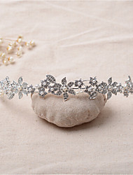 Women's Rhinestone / Alloy Headpiece-Wedding / Special Occasion Tiaras 1 Piece Clear Irregular 16.5