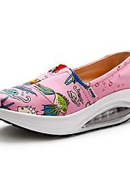 Damen-Flache Schuhe-Lässig-PU-Flacher Absatz-Komfort / Geschlossene Zehe-Blau / Rosa