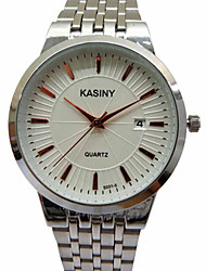 Men's Fashion Watch Casual Watch Quartz Stainless Steel Band Charm Luxury Silver