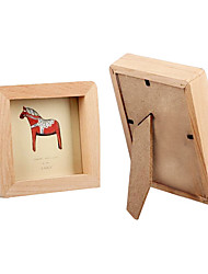 3 inch and 5 inch children wooden photo frame combination
