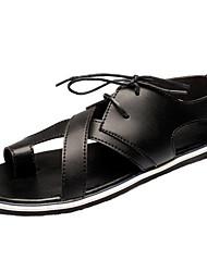 Chaussures Hommes-Extérieure / Sport-Noir-Similicuir-Sandales