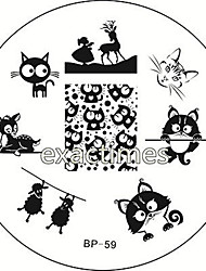 Cat Deer Sheep Nail Art Stamping Template Image Plate BORN PRETTY BP #59