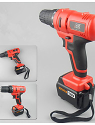 (Red) Rechargeable Electric Screwdriver Bit, Reversing Screwdriver Drill (Drill 14 Charging An Electric Charge)