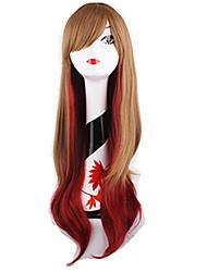 uso diário perucas de moda cosplay mulit-cor perucas mistos das mulheres Europen e americanos
