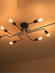 8 bedroom retro minimalist personality chandelier spider iron art ceiling lamps