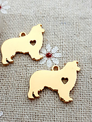 20Pcs Rough Collie Necklace Memorial Gift Dog Charm Pendant for DIY Jewelry Making