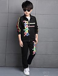 Boy's Cotton / Rayon Clothing Set,Winter / Spring / Fall Striped