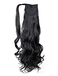 Excellent Quality Synthetic Hairpiece 26 Inch Long Curly Clip In Ponytail