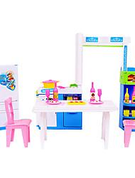 Аксессуары для кукольного домика Хобби и досуг Furnitures Пластик Коричневый Оранжевый Для девочек 5-7 лет