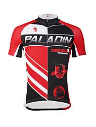 PALADIN® Maillot de Ciclismo Hombres Mangas cortas BicicletaTranspirable / Secado rápido / Resistente a los UV / Suave / Compresión /