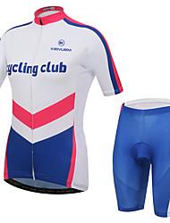 KEIYUEM Camisa com Shorts para Ciclismo Unissexo Manga Curta MotoImpermeável Respirável Secagem Rápida Design Anatômico Á Prova-de-Chuva