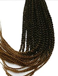 24'' Synthetic 3X Box Braids hair two tone burgundy havana mambo twist hair crochet braid hair Kanekalon Braiding Hair