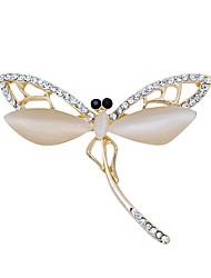 nova moda opala de qualidade libélula broches partido requintados para o casamento
