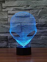 unieke 3D speciale vreemde vorm geleid tafellamp met USB Power kleur veranderende nachtlampje