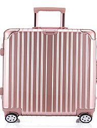 Unisex-Outdoor-PVC-Luggage-Rose Gold / Silver
