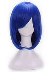 Europe And The United States A Cosine Color Wig BoBo Blue 10 Inch High Temperature Short Straight Hair Silk Wig