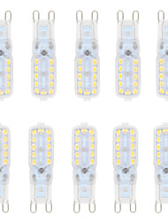 5W G9 LED à Double Broches T 22 SMD 2835 550 lm Blanc Chaud / Blanc Froid Gradable AC 100-240 / AC 110-130 V 10 pièces
