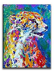 Peint à la main Animal Peintures à l'huile,Réalisme / Méditerranéen / Pastoral / Style européen / Style / Modern / Classique /