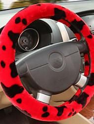 roda de inverno leite moda de pelúcia de direcção do carro cobre antiderrapantes revestimentos guiador quente