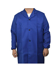 Blue Gown With Long-Sleeved Overalls Suit Men And Women Carry Protective Clothing Work Wear Long Robe