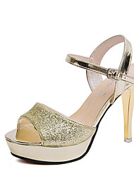 Women's Sandals Summer Wedges PU Casual Wedge Heel Others Silver / Gold