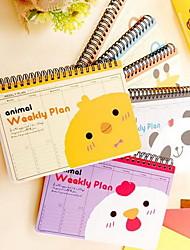 Creative Cartoon Animals Coil Notebook Schedule Plan
