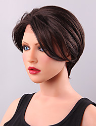 Glamour Short Smooth Straight Brown Fairy Wig Lace Front Human Hair  Makes You Outstanding
