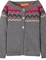 Girl's Casual/Daily Solid Sweater & Cardigan,Cotton Spring / Fall Black / Blue / Red / Beige / Gray