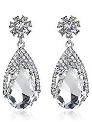 White/Royal Blue Exqusite Quality Silver AAA Zircon Crystal Drop Earrings for Lady Wedding Party