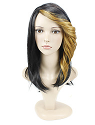 Two Tone Color Wave Cap Construction Hair European Style Synthetic Hair Wig