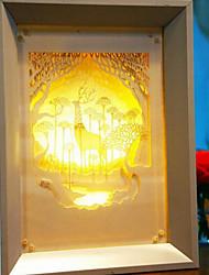 nous branchons papier créatif conduit sculpture 3d décoration nuit noël lumière cerfs elf
