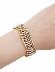 Fully Crystal Cuff Bracelets for Wedding Party