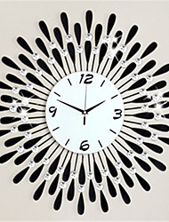 Modern Style Fashion Creative Tuba Diamond With Iron Mute Wall Clock