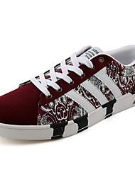 scarpe da uomo tulle moda casual scarpe da tennis casuali camminare piane altri tacco nero / blu / bordeaux