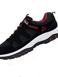 Femme-Sport-Noir / Bleu / Gris-Talon Plat-Confort-Sneakers-Daim