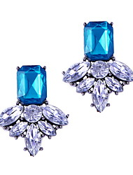 Fashion Sweet Trend Nifty Color Diamond Crystal Elf Earrings