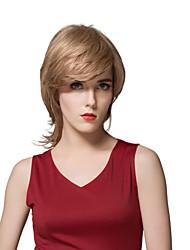 encantador evaginate peruca reta cabelo humano de 12 polegadas
