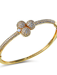 18K Gold Plating & Platinum Plating Trendy Bangles With Cubic Zirconia for Women Bangles Wedding Jewelery