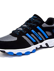 Men's Shoes Tulle Casual Sneakers / Clogs & Mules Casual Indoor Court Flat Heel Others / Lace-up Blue / Black