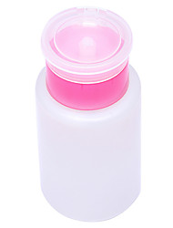 Empty Pump Dispenser Nail Polish Remover Empty Bottle White DIY Nail Art Pressing Bottle
