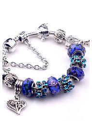 Pulseiras Pulseiras Strand Cristal / Liga Forma Redonda Fashion Diário / Casual Jóias Dom Azul,1pç