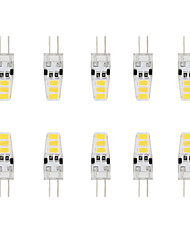 3W G4 LED à Double Broches T 6 SMD 5730 200 lm Blanc Chaud / Blanc Froid Etanches DC 12 V 10 pièces