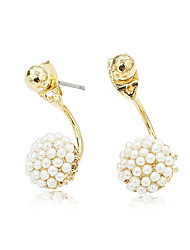 Earring Circle Jewelry Women Fashion Wedding / Party / Daily / Casual / Sports Alloy / Imitation Pearl 1 pair Gold